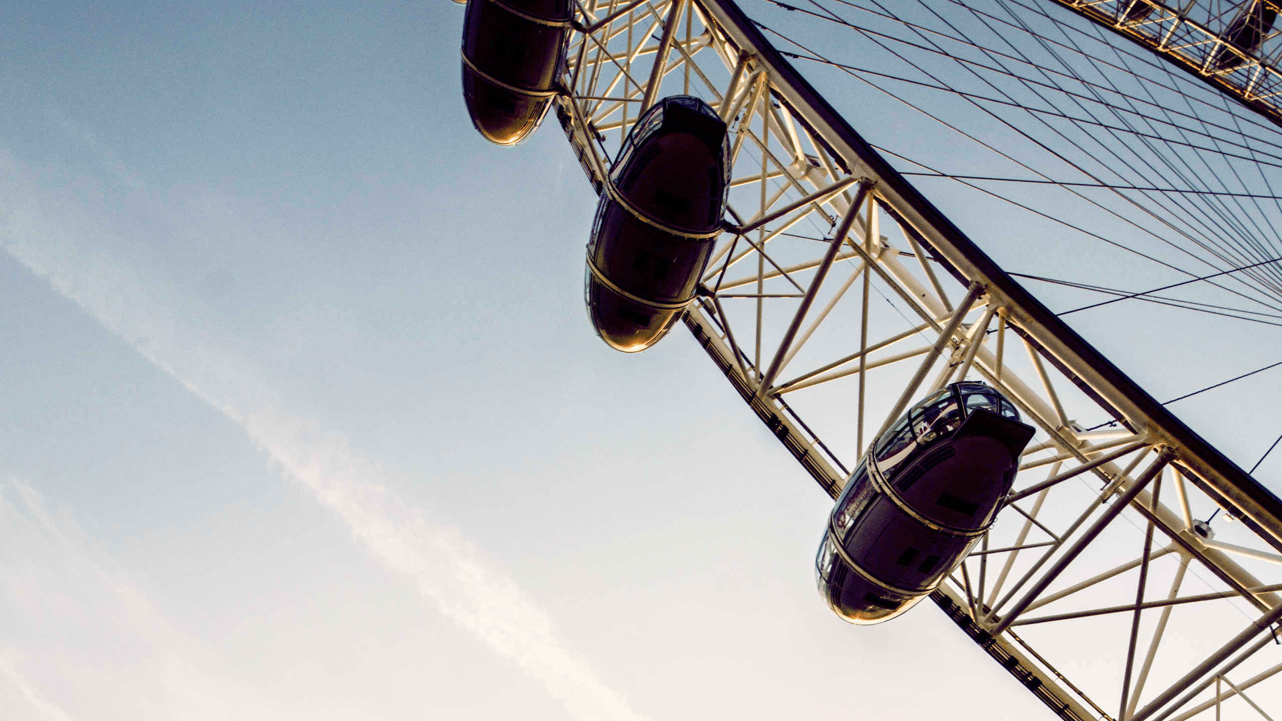 Partial view of the London Eye.