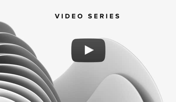 Video Series Graphic with Fibonacci Art.