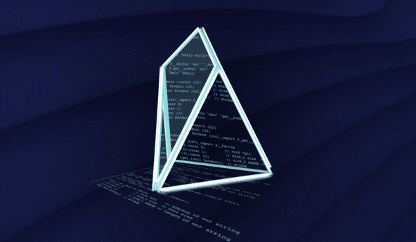 Eos chestahedron with coding inside the shape.