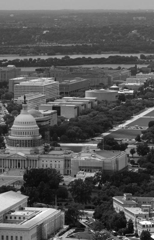 Washington DC aerial shot