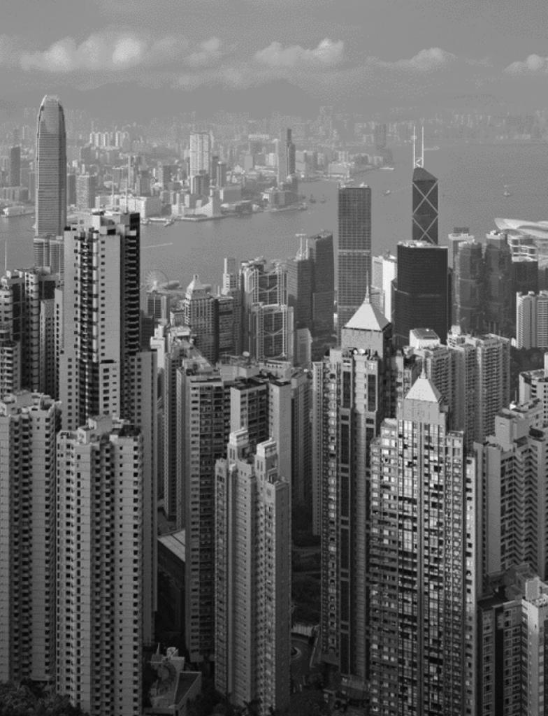 Hong Kong City aerial shot